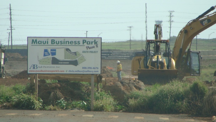 A&B is planning a Maui Business Park just north of the planned Puunene Shopping Center, whose anchor tenant has been identified as Target. Photo by Wendy Osher.