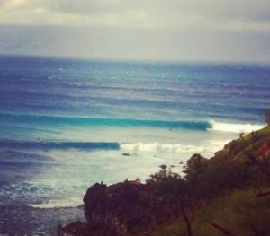 Honolua Bay firing again. Photo: Carlos Rock