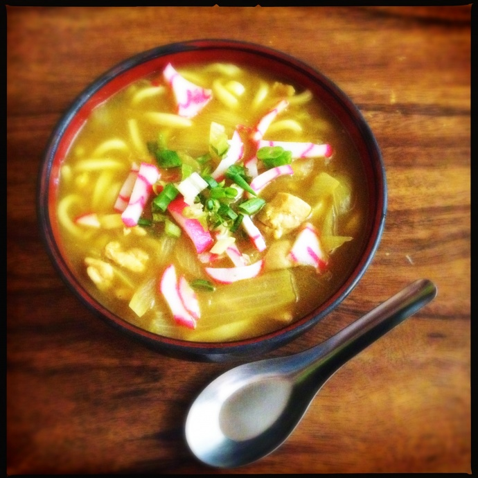 The Curry Udon is always ready for its festive close-up. Photo by Vanessa Wolf