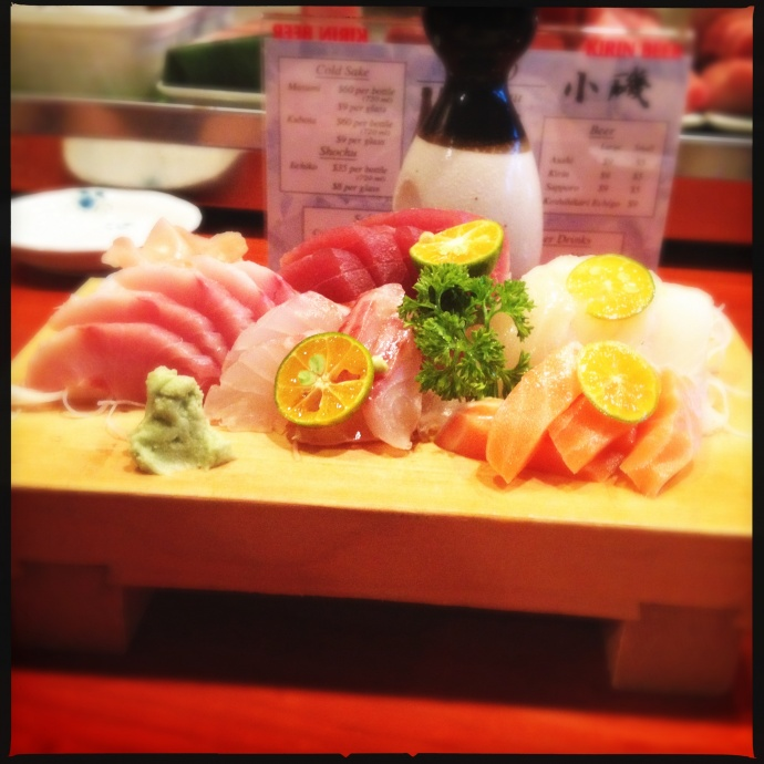 The sashimi combo the first time. Photo by Vanessa Wolf