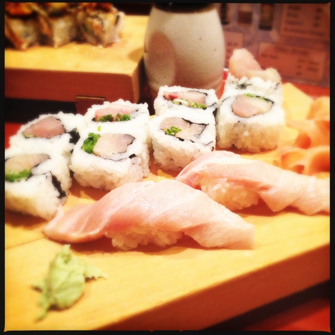 The Himache roll and (add your own expletive) tuna nigiri. Photo by Vanessa Wolf
