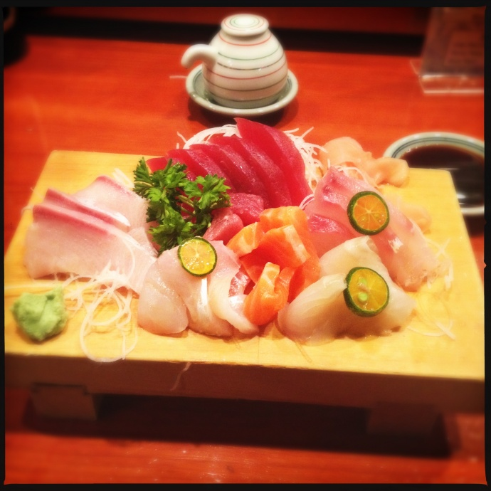 The sashimi combo on a subsequent visit with a last seating reservation time. Photo by Vanessa Wolf