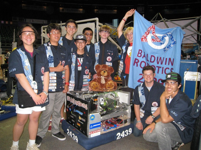 Baldwin High's robotics team and their alliance partners capture the 2013 Regional FIRST Robotics Competition. Courtesy photo.