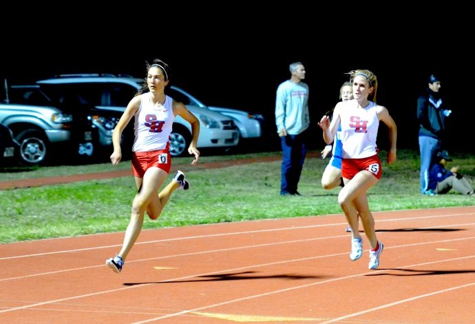 Seabury Hall's Dakota Grossman (left) and Alyssa Bettendorf (right) are among the state's best in their respective events. Photo by Rodney S. Yap.