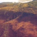 Kaheawa Wind Farm, aerial file photo by Wendy Osher.