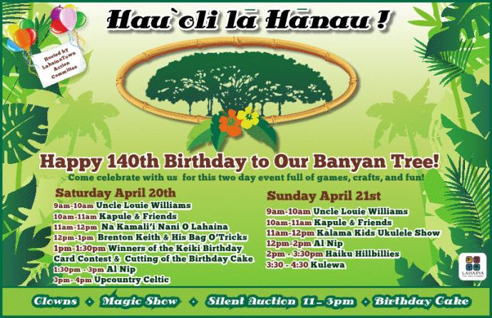Banyan tree birthday flyer.