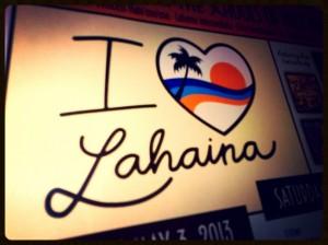 I Love Lahaina, event flyer.