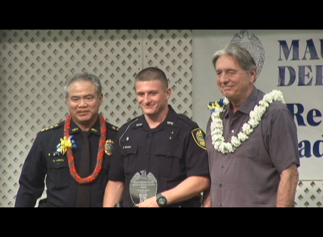 The MPD's Outstanding Recruit Award went to Eric Grundy.  Photo by Wendy Osher.