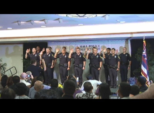 Maui Police Department, 77th Recruit Class. Photo by Wendy Osher.