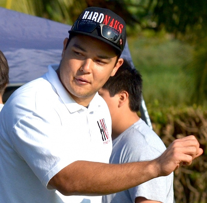 Cody Nakamura hopes to bring a college atmosphere to the Kamehameha Maui football program. File photo by Rodney S. Yap.