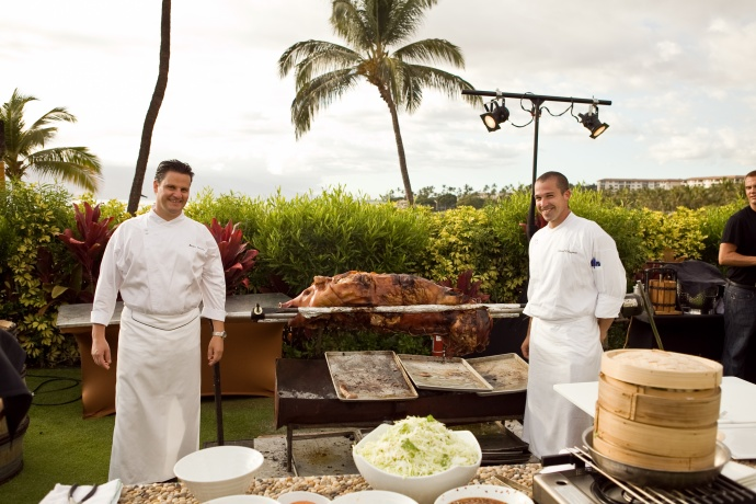 Last year's Four Pinots event. Photo courtesy Four Seasons Maui.