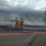 Mokulele Highway median fire, May 16, 2013.  Photo courtesy Arnelle Diego.