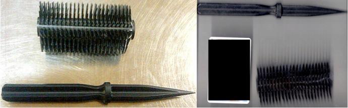 Brush daggers. TSA photo at blog.tsa.gov.