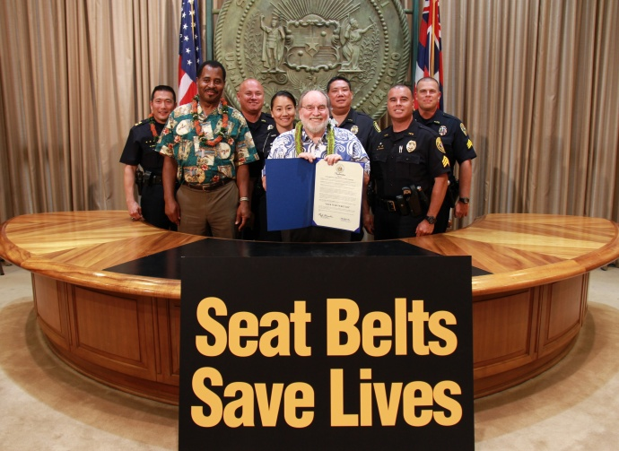 Click It or Ticket proclamation. Courtesy photo Office of the Governor.