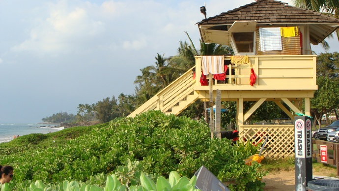 South Maui lifeguard tower, file photo by Wendy Osher.