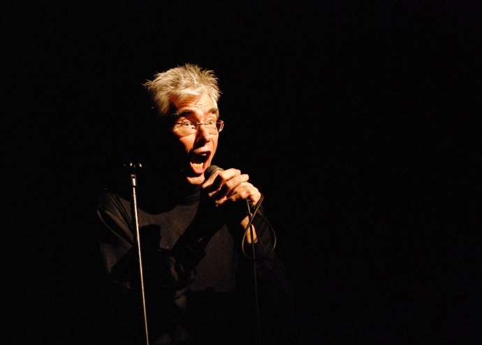 Jaap Blonk, presumably performing some sound poetry. Courtesy photo