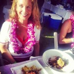 Vanessa Wolf judges the Maui Onion Festival Recipe Contest.
