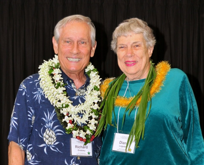 Winners of Outstanding Older Americans: Richard Endsley & Diane Logsdon. Photo courtesy: County of Maui/Ryan Piros.