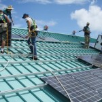 Students at UH Maui College learn about photovoltaic installation. Courtesy photo.