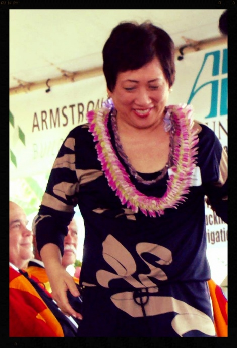 Colleen Hanabusa, Aug. 2012 during a Maui visit. File photo by Wendy Osher.