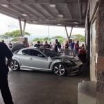 Costco car crash, May 19, 2013. Photo courtesy Luann Vodder via Elaine Roe.