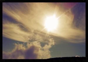 Sun over Haleakalā, file photo by Wendy Osher.