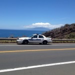 Maui police respond to a traffic accident at around 11:23 a.m. that forced the closure of the Honoapiʻilani Highway in both directions.  Photo courtesy: Kevin Bass.