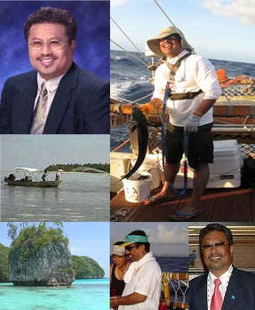 """President Thomas """"Tommy"""" Remengesau, Republic of Palau. Images courtesy, Evelyn Wight, The Nature Conservancy of Hawai'i."""