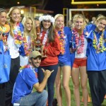 The Seabury Hall girls track team pose for a picture following its runner-up finish at the 2013 HHSAA State Track and Field Championships at Mililani High School. Photo by Rodney S. Yap.