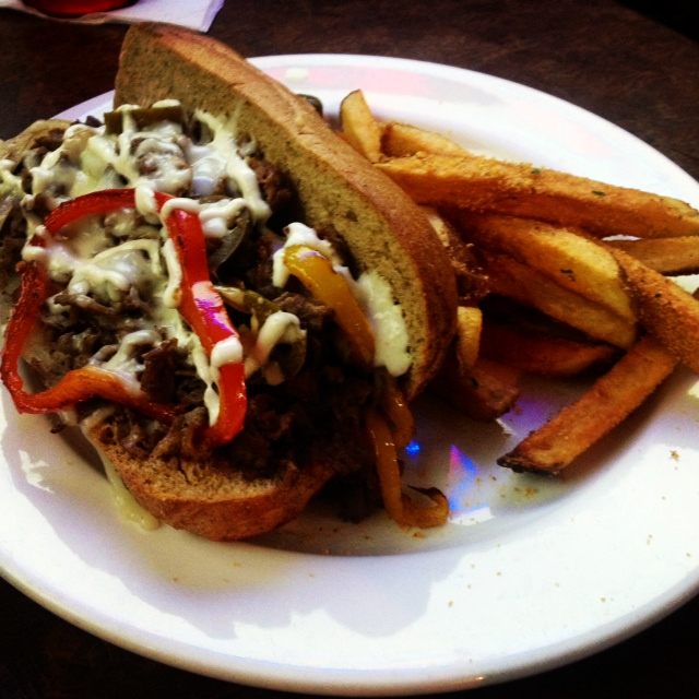 "The ""Philly"" Cheese Steak. Photo by Vanessa Wolf"