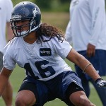 Seattle Seahawks linebacker John Lotulelei during OTA's earlier this week. Photo by Getty Images.