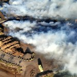 Aerial of Maui Landfill fire. Photo courtesy County of Maui.