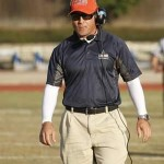 College of Sequoias' former head coach Robert Dougherty on the sidelines. File photo by COS Athletics.