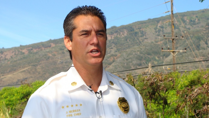 Maui Fire Chief Jeffery Murray.  Photo by Wendy Osher.