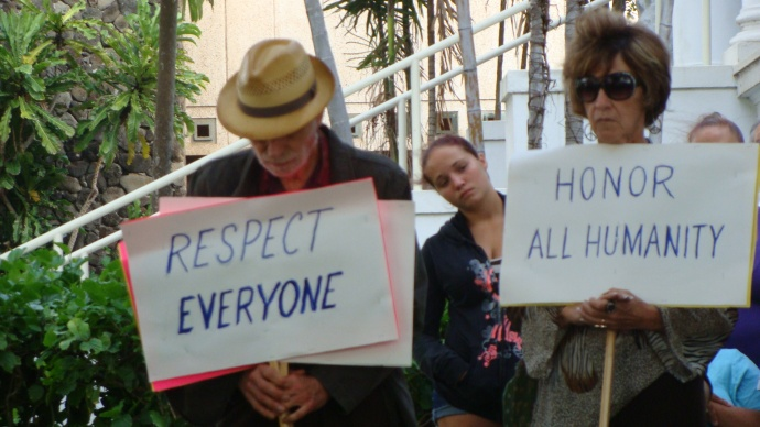 Martin Luther King Jr. Maui march, file photo 2011 by Wendy Osher.