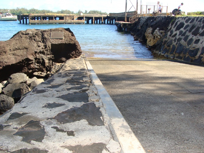Hāna Boat Ramp, file photo 2008 by Wendy Osher.