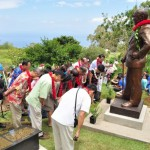 Chinese government officials attend the unveiling of a Sun Mei statue at Sun Yat-sen Park in Kēōkea on Maui. Photo courtesy County of Maui.