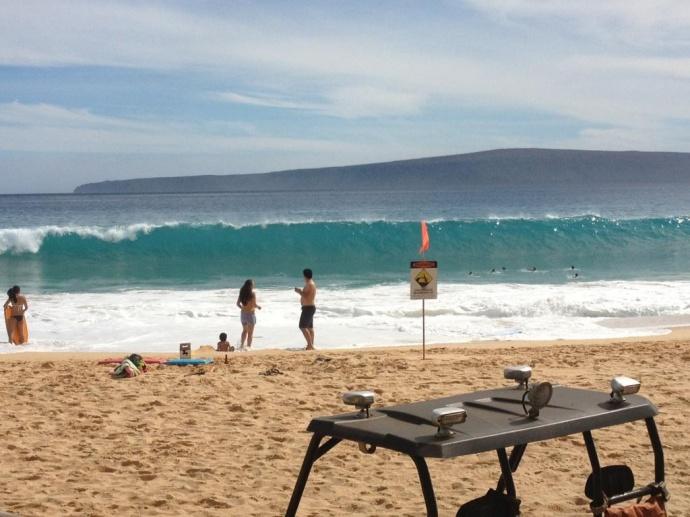 South Maui high surf conditions. Photo courtesy County of Maui.