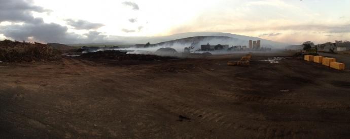 Central Maui Landfill fire, photo courtesy County of Maui.