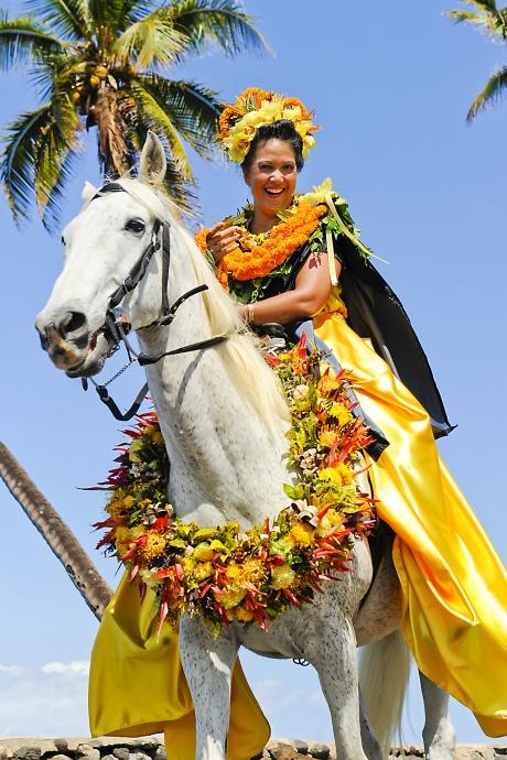 Photo credit: Jackie Jean Photography. Courtesy photo from Nā Kamehameha Paʻu Parade.