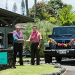 Danny Mynar, General Manager of Travaasa Hana, and John Foy, Area Sales Manager for Enterprise Rent-A-Car, announce a new rental car partnership at Travaasa Hana. CREDIT: Travaasa Hana, Maui