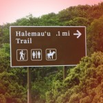 Halemauʻu Trail sign. Photo by Wendy Osher.