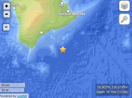 Hawaiʻi Island Quake, June 4, 2013.