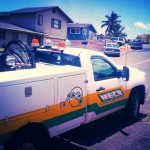 Maui Electric Company truck, file photo by Wendy Osher.