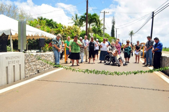 Waiohonu Bridge, photo courtesy County of Maui / Ryan Piros.