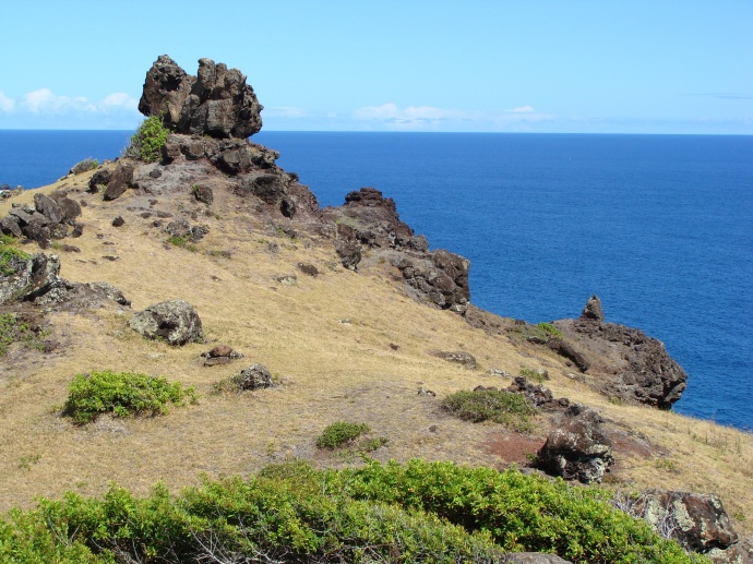 View towards the Pailolo Channel and the waters between Maui and Molokaʻi. Photo by Wendy Osher.