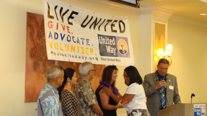 Maui United Way installed a new officers during its 44th Annual Meeting and Recognition Luncheon. Photo by Wendy Osher.