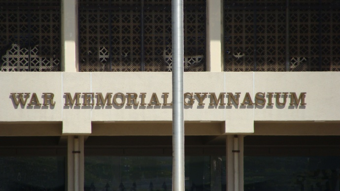 War Memorial Gym, photo by Wendy Osher.
