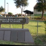 The north entrance of King Kekaulike High School is located along the Old Haleakalā Highway in Pukalani.  File photo by Wendy Osher.