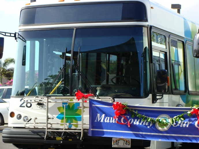 Maui Bus, photo by Wendy Osher.